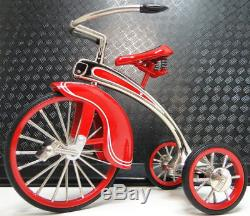 1930s Tricycle Pedal Car Vintage Red Metal Collector READ FULL DESCRIPTION PAGE