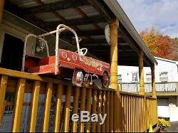 1950 Pedal Car Fire Truck A Vintage