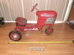 1950's Murray Trac Pedal Car /tractor Vintage Chain Drive Turbo Original Works