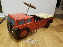 1950's Vintage Mobo Toys Rare Original Bedford Haulage Truck Metal Pedal Car