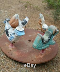 1950s Playground Merry Go Round, Vintage Gametime Animals