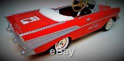 1957 Chevy Pedal Car Vintage Fire Chief Bel Air Hot Rod Sport Midget Metal Model