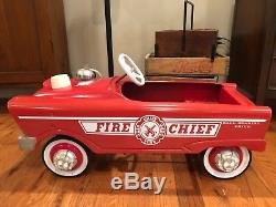 1960 Cool Old FIRE CHIEF Pedal Car Vintage Toy Orig Paint Great Cond Antique