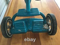 1960's VINTAGE MURRAY FULL BALL BEARING TRICYCLE TWO STEP VGC RARE BLUE COLOR