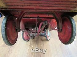 1960's Vintage Murray Fire Chief Truck Pressed Steel Pedal Car