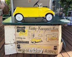 1962 VINTAGE and RARE Yellow Plastic Hamilton Volkswagen Cabria Pedal Car