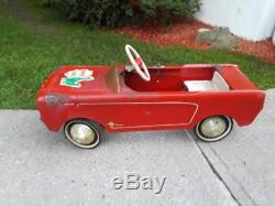1964 All Original AMF Red MUSTANG Pedal Car Vintage Toy Estate Attic Find