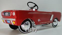 1965 Mustang Ford Pedal Car A Show GT Vintage Hot T Rod Metal Midget Model