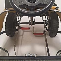 1970s Vintage VTG Yellow VW Volkswagen Bug Beetle Childs Pedal Car Original