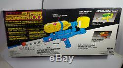1990 ORIGINAL Super Soaker 100 Pump Water Gun in box Rare Vintage