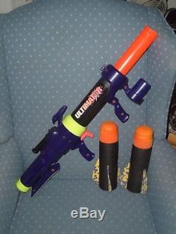 1994 Vintage Mattel Ultimator foam missile launcher, Aviva Sports 2 missiles