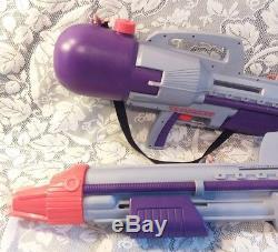 2 RARE Vtg 1996 Larami Classic CPS 2000 Super Soaker Constant Pressure Water Gun