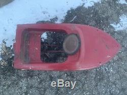 #2 VTG ORIG 50s MURRAY JOLLY ROGERS DOLPHIN SKIPPER PRESSED STEEL PEDAL CAR BOAT