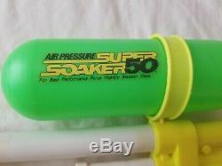2 Vintage 1990s Larami Super Soaker 50 Air Pressure Pump Water Guns WORKS/Parts