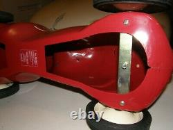 3540 Vntg Radio Flyer #8 Little Red Roadster One Rider Push Race Car 2575g1