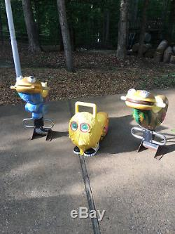 (3 Total) Vintage Collectible McDonalds 1980's Playland Bouncer Kiddie Ride (s)