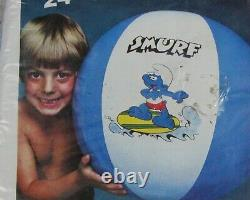 48, 24 & 20 SMURF Inflatable BEACH BALL (Lot of 3) Vintage COLECO 1982 NOS