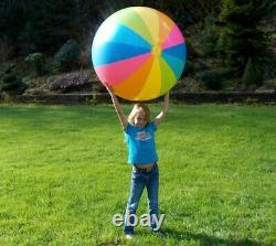 48 INTEX Inflatable 12 PANEL Rainbow Striped Beach Ball VINTAGE 2006 NOS