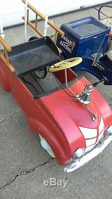4 Original Vintage All American Pedal Car/cars Nice
