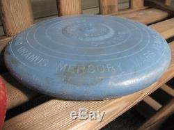 4 vintage Wham-O PLUTO PLATTER Flying Saucer Frisbee Discs Red Blue Green Yellow