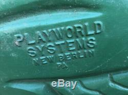 50s Vintage Playworld Systems Spring Ride Cast Aluminum Playground Ride-On Frog