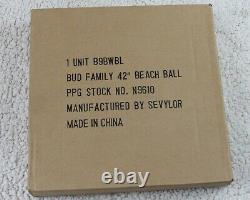 54 Inflatable BUD FAMILY Beach Ball BUDWEISER BUD LIGHT Vintage SEVYLOR
