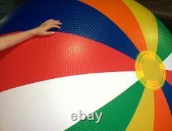 72 SSI / D & L TOYS Embossed 12 PANEL Beach Ball HUGE Vintage SUPER RARE