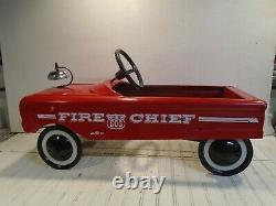 AMF Fire Chief Pedal Car No. 503 Vintage 1960s