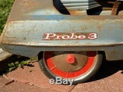 AMF Probe 3 Pedal Car Retro Auto Childs Metal Pedal Car Ride On Toy Vintage