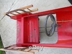 AMF Unit #508 Fire Fighter'60's' Original Vintage Pedal Car