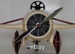 Air Plane Pedal Car Rare WW1 Vintage Airplane Aircraft Midget Metal Model Biege