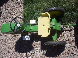 All Original RARE Vintage John Deere ERTL 520 Pedal Tractor With Wagon ALL METAL
