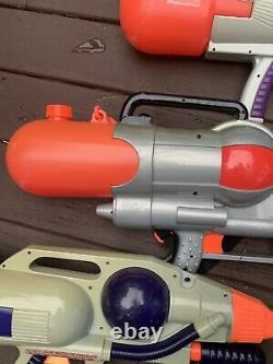 Amazing Vintage Larami Super Soaker 1000, 2500 CPS 3 -4- 5 Water Guns Lot