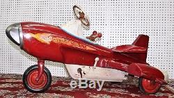 American Murray Vintage Original Pedal Car Atomic Missle Rocket 1958