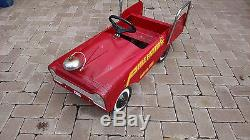 Amf Vintage Pressed Steel Pedal Car Fire Truck #508