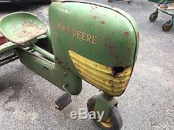 Amt vintage pedal tractor Ertl Car Farm John Deere Trailer