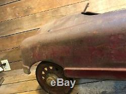 Antique BMC Fire Chief Pedal Car Vintage Hubcap H Vintage Senior Dept Studebaker