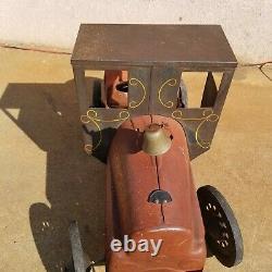 Antique Garton Casey Jones Train Pedal Vintage Car Cannonball Express No. 9