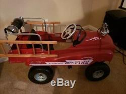 Antique Vintage Fire truck pedal car Jet Flow Drive