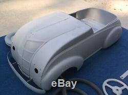 Antique Vintage ORIGINAL Pedal Car Steelcraft Chrysler AirflowBarn Find NICE
