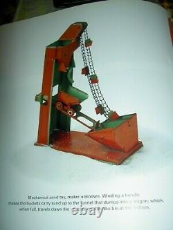 Antique vintage, Coal Sand Elevator Bucket Loader mechanical tin litho sand toy