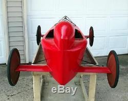 Authentic Antique Official Soap Box Derby Race Car Vintage