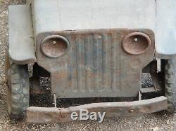 COLLECTORS VINTAGE jeep PEDAL CARS