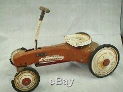 COLLECTORS! Vintage Pedal Car Ball Bearing Speedster
