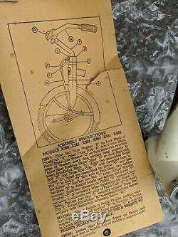 COLSON 12 inch Tricycle 1951 New Old Stock Never Assembled Vintage Original