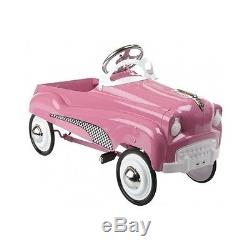 Classic Pedal Car Instep Pink Lady Girls Ride On Outdoor Toy Kids Vintage Style