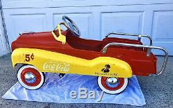 Coca-Cola Vintage Pedal Car GEARBOX Cedar Rapids, Iowa Coca Cola Car