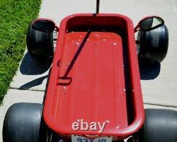 Custom, vintage, hot rod, radio flyer FORMULA C CARRERA GT4 Indy Coaster Wagon