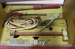 EXTREMELY RARE Vintage Pedal Car Tow'N Fixit Kit Amsco Toys Tool Caddy wi