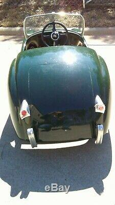 Early 1950's Vintage Jaguar XK120 Pedal Car. Extremely Rare. Made in the UK
